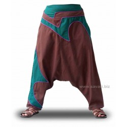 Pantalones Turcos Harem, color chocolate