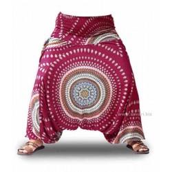 Pantalones babuchas, color fucsia