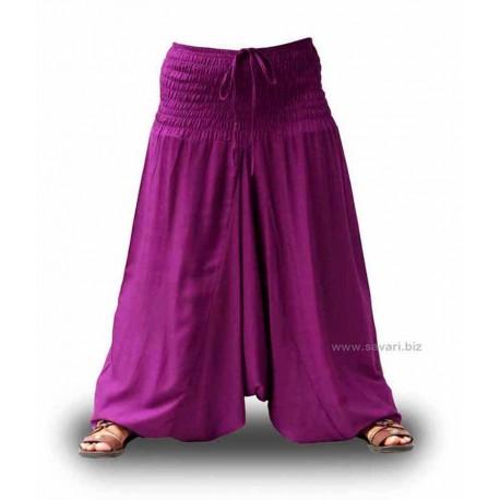 Pantalones afganos, color vino