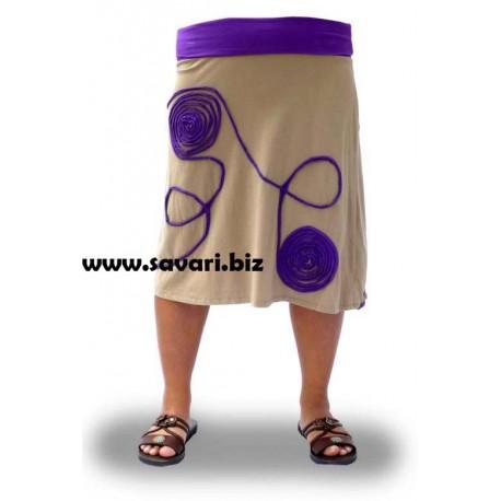 Faldas algodón, color lila
