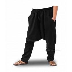 Pantalones harem lisos