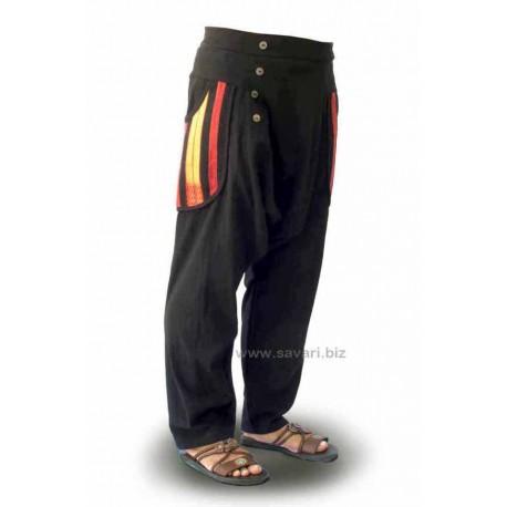 Pantalones étnicos, color kaki