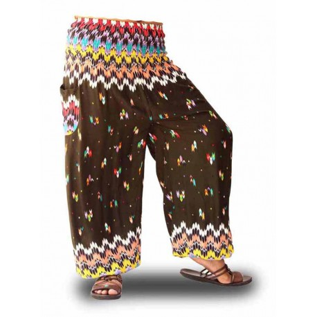 Pantalones Bombachos, Moda Yoga, color granate