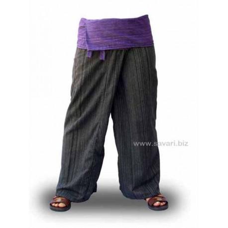 Pantalones Thai bicolor