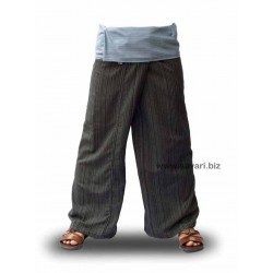 Pantalones Thai bicolor negro-lila