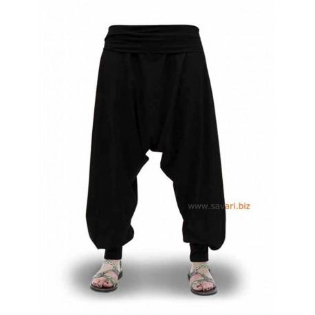 Pantalón Turco, Algodón, Color Negro